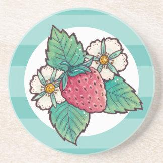Strawberry Plant Coaster