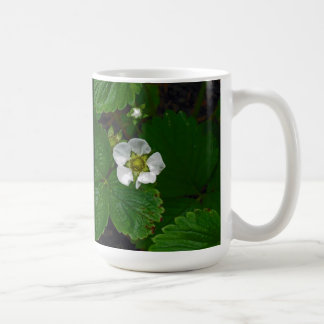 Strawberry Plant Flower Basic White Mug