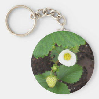 Strawberry Plant Keychain