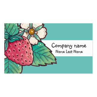 Strawberry Plant Personal Business Card Template.