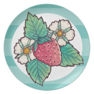Strawberry Plant Plate