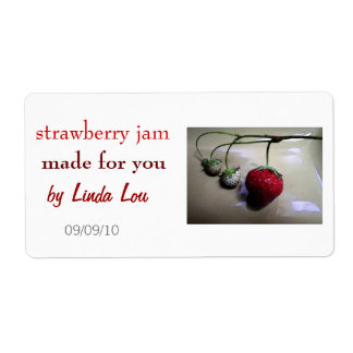 Strawberry Preserves or Jam Label