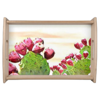 strawberry prickly pear serving tray