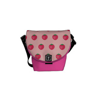 Strawberry Print Commuter Bag