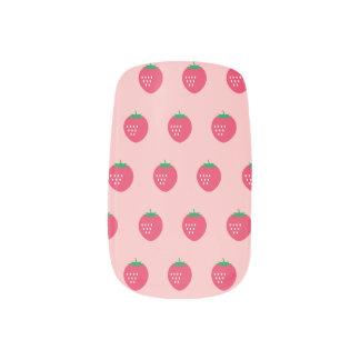 Strawberry Print Minx Nail Art