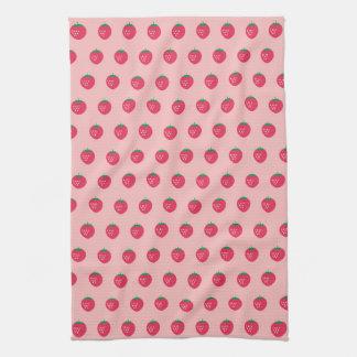 Strawberry Print Tea Towel