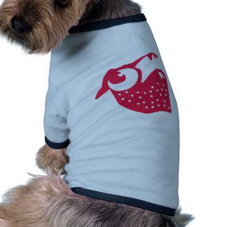 Strawberry pug ringer dog shirt