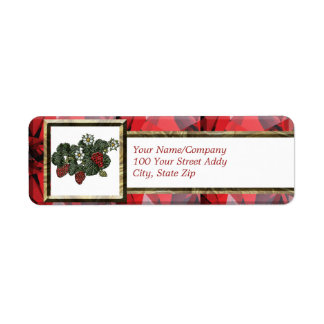 Strawberry Return Address Label