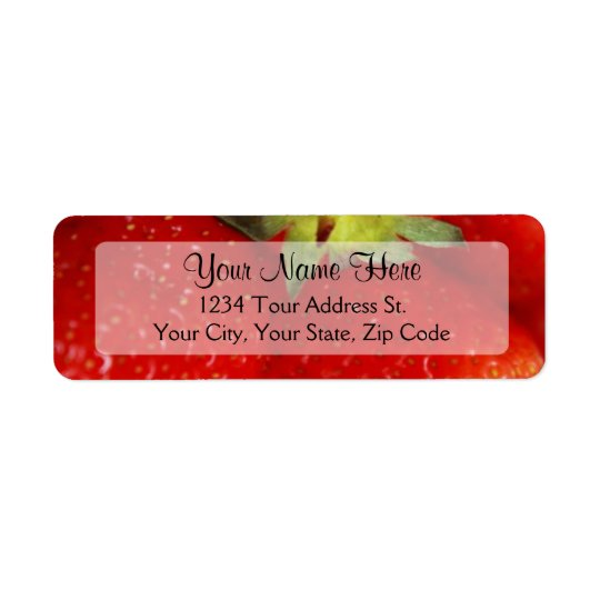 Strawberry Return Address Labels