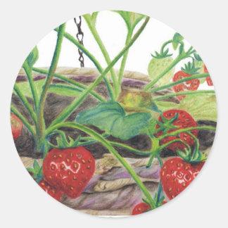 Strawberry Round Sticker