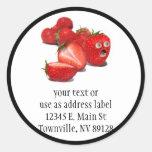 Strawberry Shock Classic Round Sticker