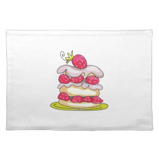Strawberry Short Cake Cloth Placemat