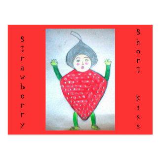 Strawberry Short kiss Postcards