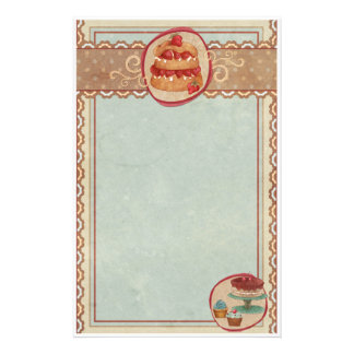 Strawberry Shortcake And Cupcake Stationery