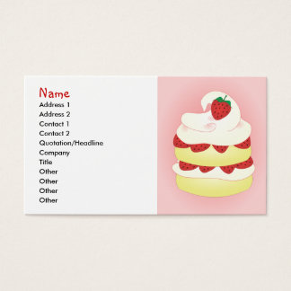 Strawberry Shortcake remake Business Card