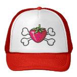 strawberry Skull and Crossbones Mesh Hat