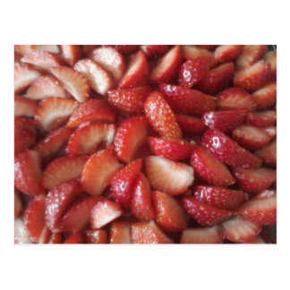 Strawberry slices postcard