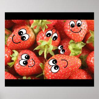 Strawberry Smileys Poster