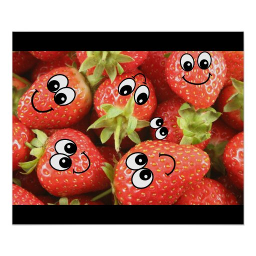 Strawberry Smileys Poster