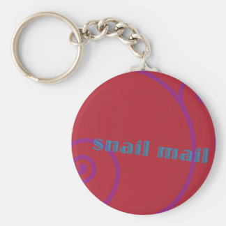 Strawberry Snail Mail Key Ring