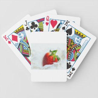Strawberry Splash Bicycle Playing Cards