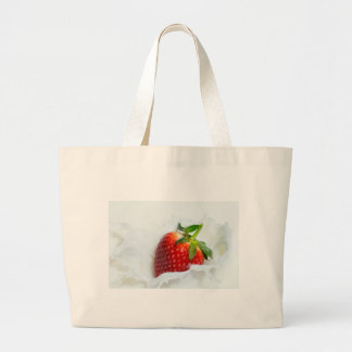 Strawberry Splash Large Tote Bag