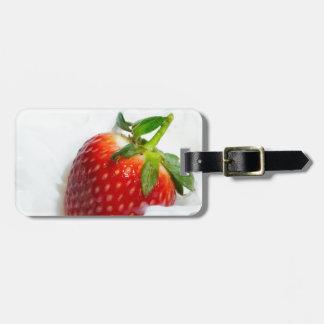 Strawberry Splash Luggage Tag