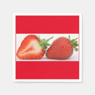 Strawberry  Standard Cocktail napkins Disposable Napkin