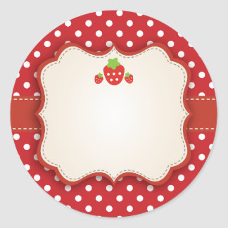 Strawberry Sticker Label