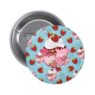 strawberry sundae button