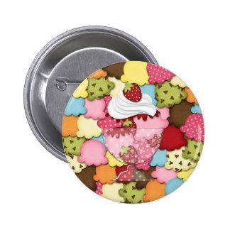 strawberry sundae buttons