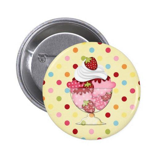 strawberry sundae pin
