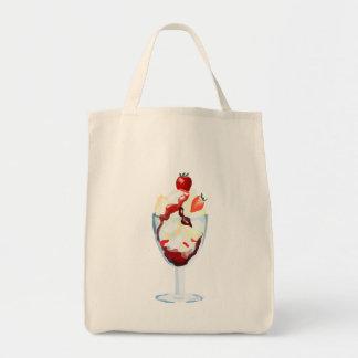 Strawberry Sundae Tote Bags