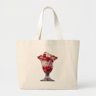 Strawberry Sundae Jumbo Tote Bag