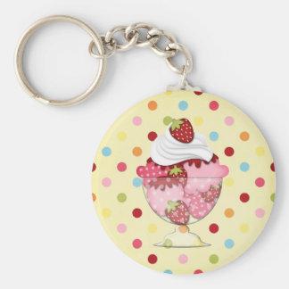 strawberry sundae key chains