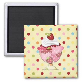 strawberry sundae magnet