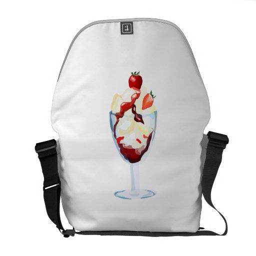 Strawberry Sundae Courier Bag