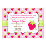 Strawberry Sweet Berry Birthday Party Invitations