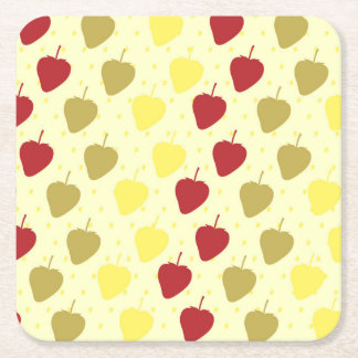 Strawberry Sweet Pattern for parties Square Paper Coaster