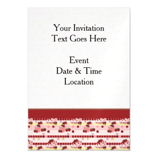 Strawberry Sweet Treats Pattern - Personalize It Magnetic Invitations