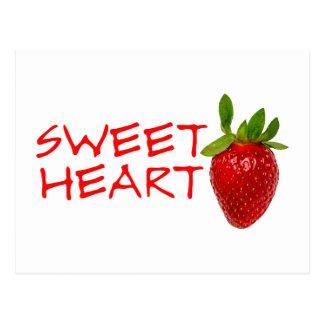 Strawberry Sweetheart Postcard