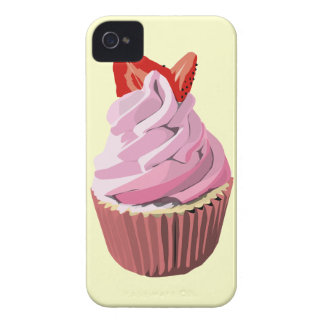 Strawberry swirl cupcake iphone4/4S case