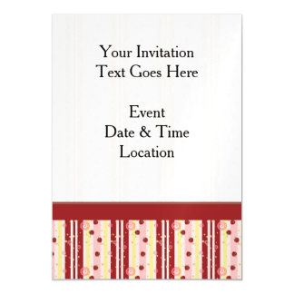 Strawberry Swirl Stripes Pattern With Border Magnetic Card