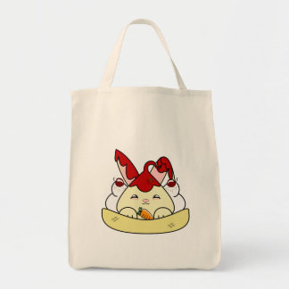 Strawberry Syrup Vanilla Hopdrop Sundae Grocery Tote Bag