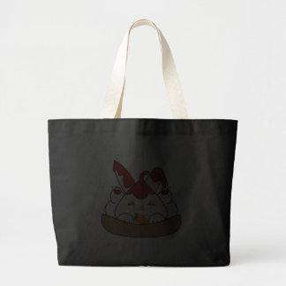 Strawberry Syrup Vanilla Hopdrop Waffle Sundae Tote Bags