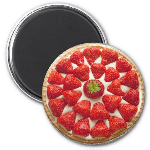 Strawberry Tart Magnet Magnet