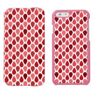 Strawberry Teardrop Pattern Incipio Watson™ iPhone 6 Wallet Case