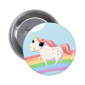 Strawberry the Unicorn 6 Cm Round Badge