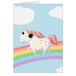 Strawberry the Unicorn Greeting Card