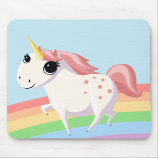 Strawberry the Unicorn Mouse Pads